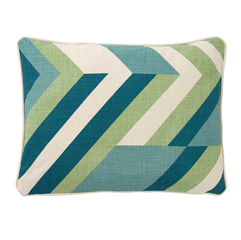 "Zig Zag Teal Accent Pillow Cover, 15"" x 20"""