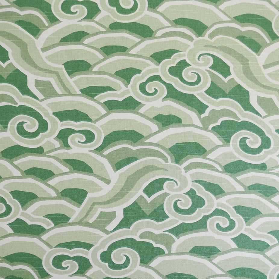 Deco Waves Jade Fabric