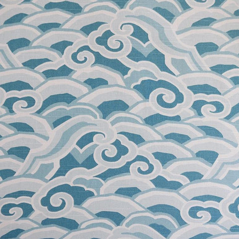 Deco Waves Peacock Fabric