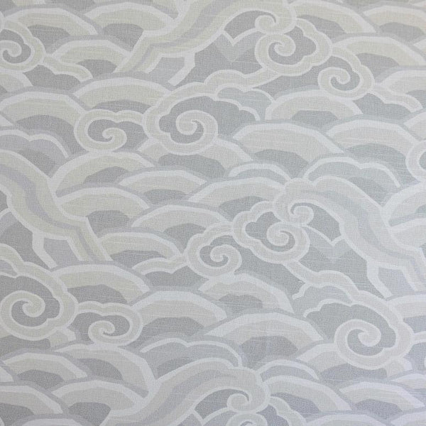 Deco Waves Pumice Fabric