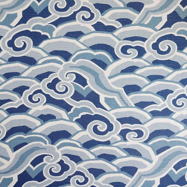 Deco Waves Ultramarine Fabric
