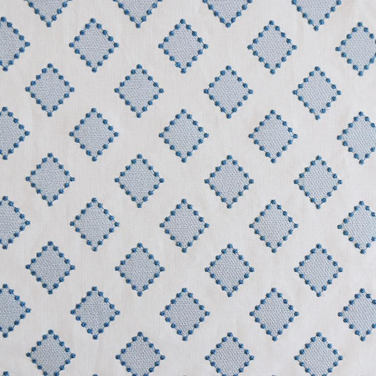 Diamond Dots Indigo Fabric