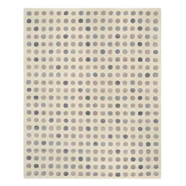 Dotty Neutral Wool Rug