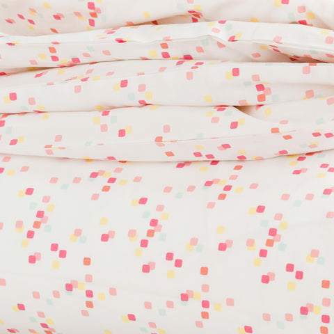 Coral Confetti Duvet Cover + Sham Set (sizes: twin, queen)