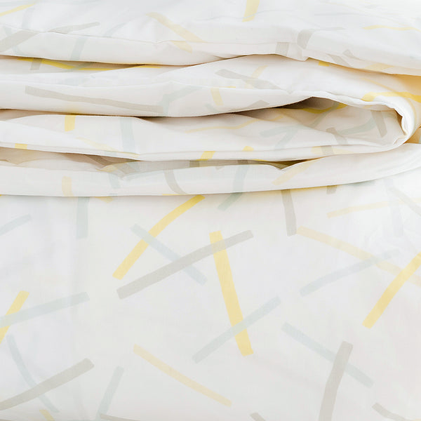 Lemon Pickupstix Duvet Cover + Sham Set (sizes: twin)