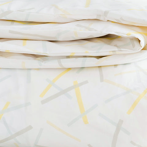 Lemon Pickupstix Duvet Cover + Sham Set (sizes: twin, king)