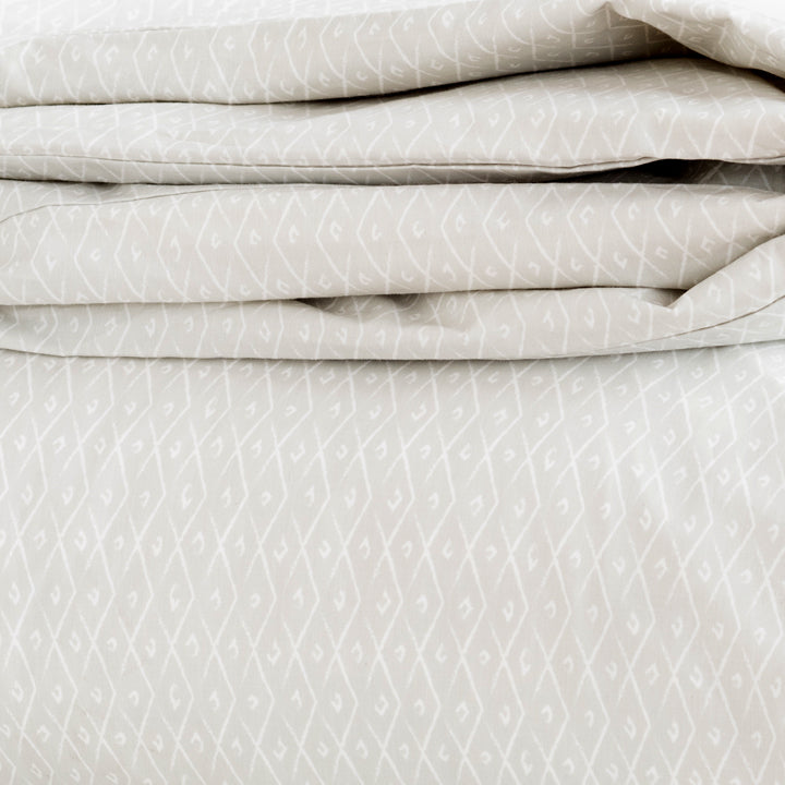 Pebble Criscross Duvet Cover + Sham Set