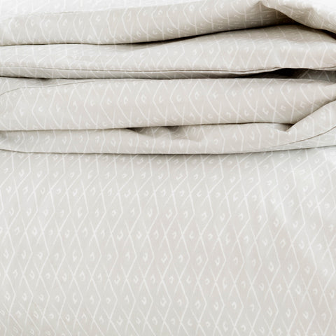 Pebble Criscross Duvet Cover + Sham Set (size: twin)