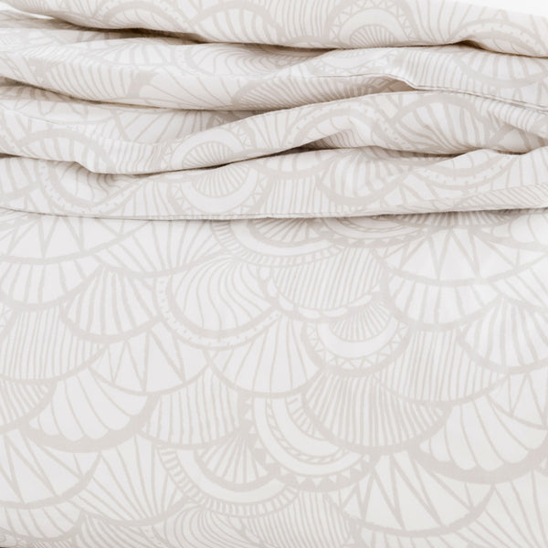 Pebble Scallop Duvet Cover + Sham Set (size: twin)