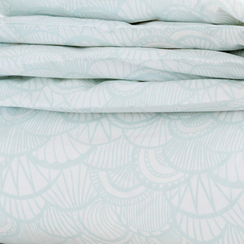 Seaglass Scallop Duvet Cover + Sham Set
