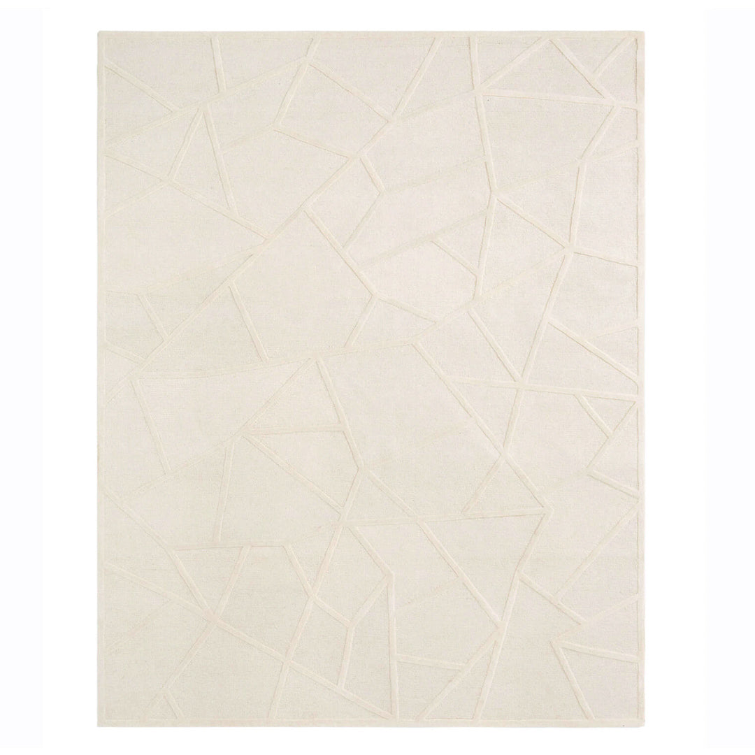 Facet Cream Wool Rug