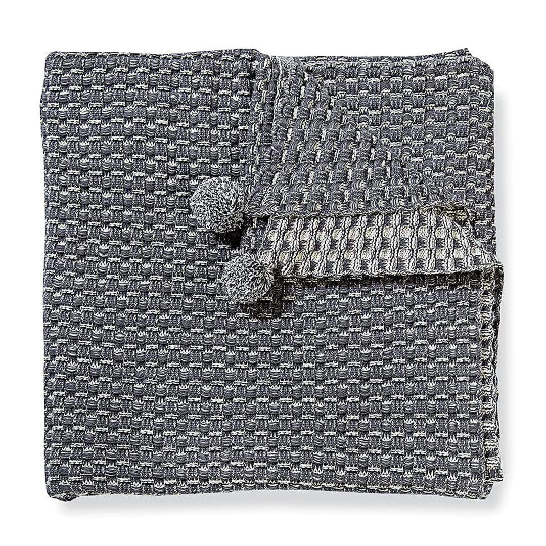 Hopscotch Charcoal Throw Blanket