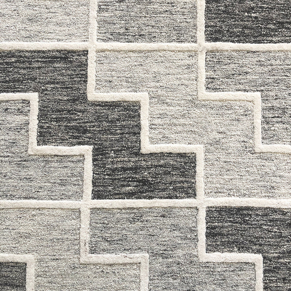 Highland Charcoal Wool Rug