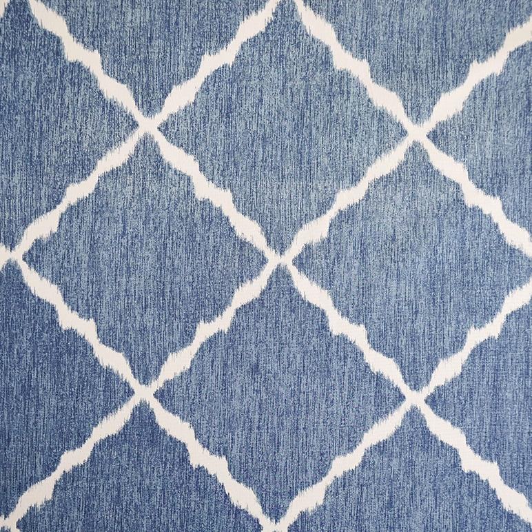 Ikat Strie Indigo Fabric
