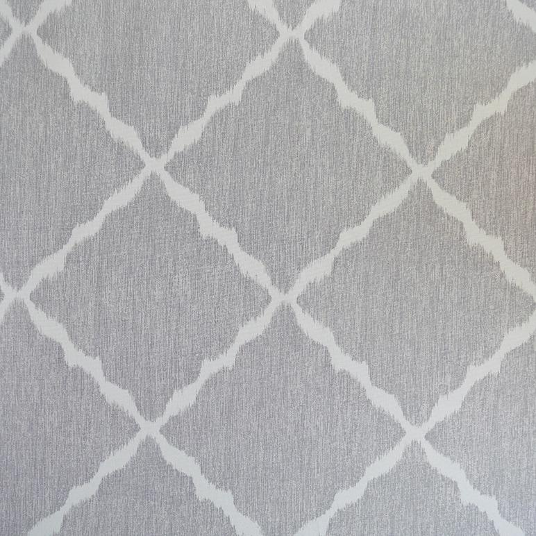 Ikat Strie Pewter Fabric