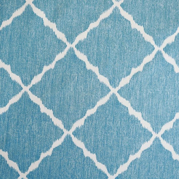 Ikat Strie Teal Fabric