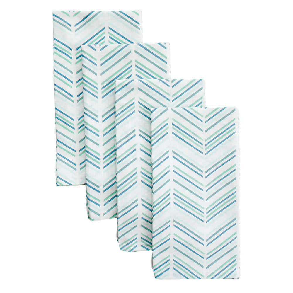 Jade Modern Chevron Napkins, Set of 4