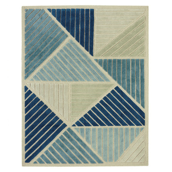 Junction Teal Wool Rug