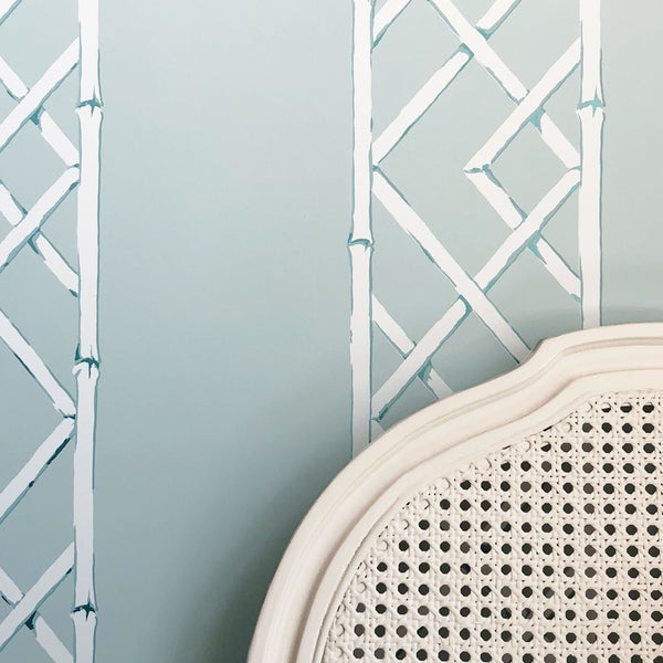 Latticework Aqua Wallpaper