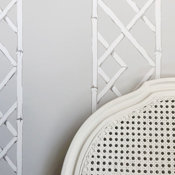 Latticework Platinum Wallpaper