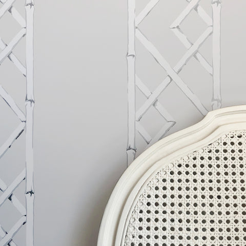 Latticework Sterling Wallpaper