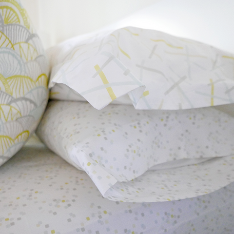 Lemon Confetti Sheet Set