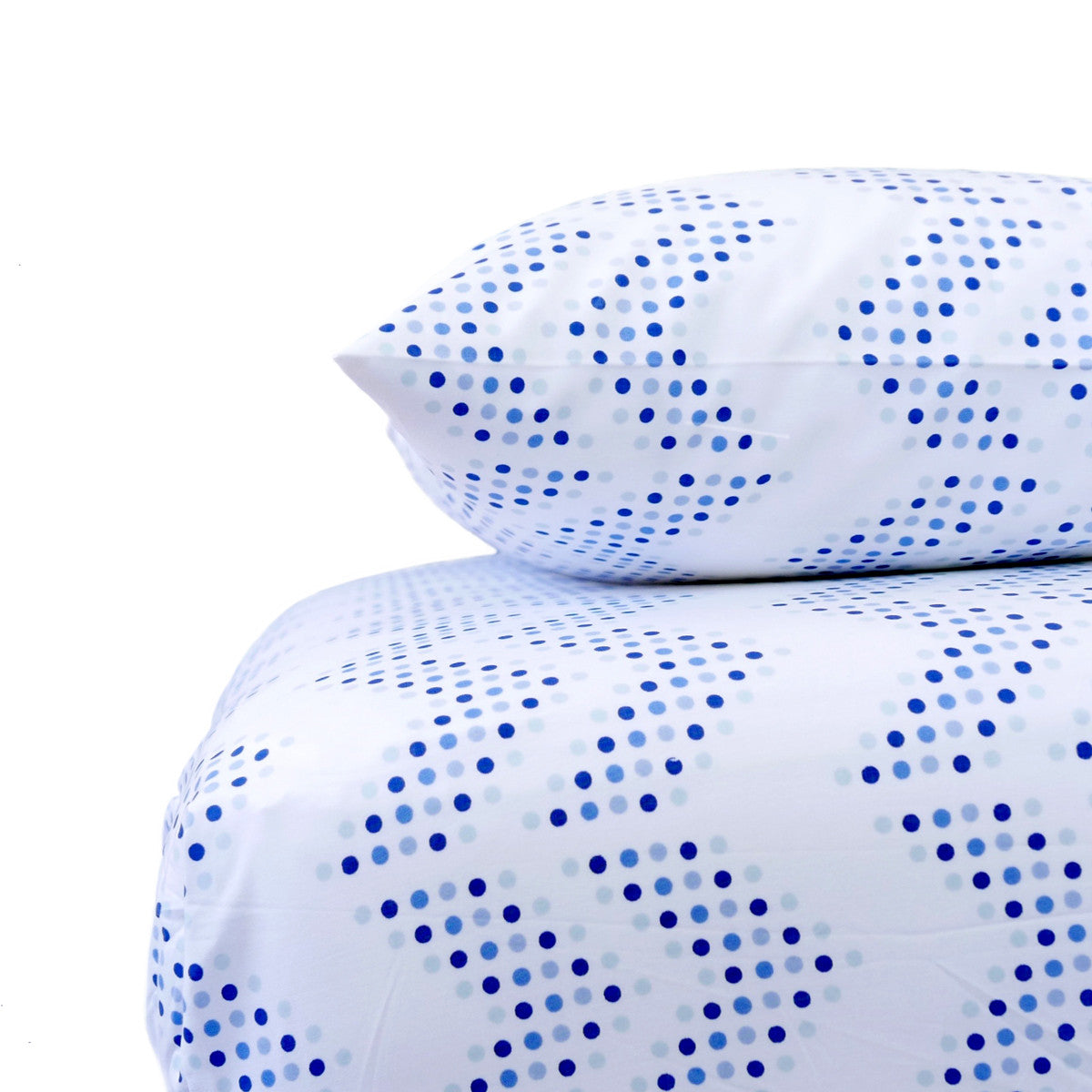 Oasis Dot Chevron Crib Sheet Set