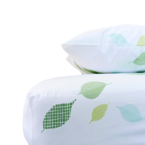 Grass Leaves Crib Sheet Set