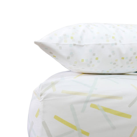 Lemon Pickupstix Crib Sheet Set