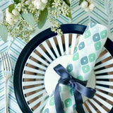 Jade Chevron/Candy + Candy Table Linen Ensemble