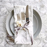 Birch Candy/Marble + Peony Table Linen Ensemble