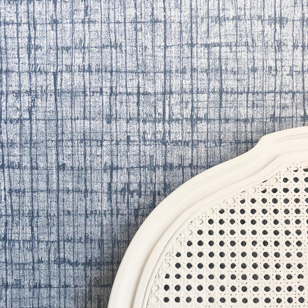 Palm Weave Denim Wallpaper