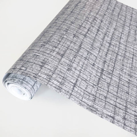 Palm Weave Graphite Wallpaper