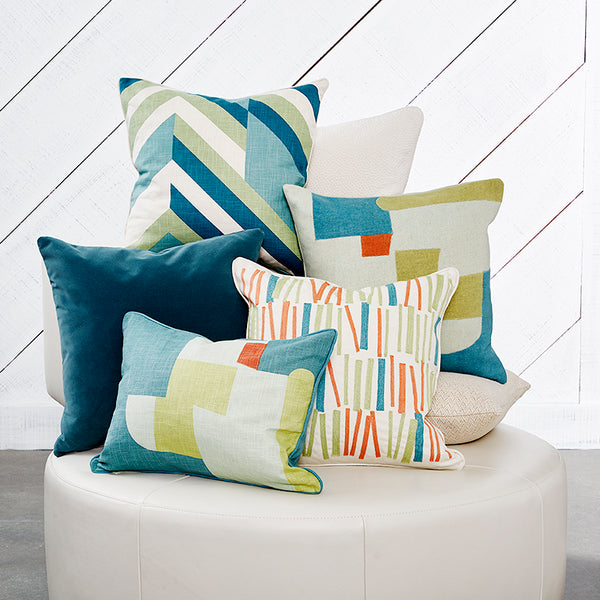 "Abstract Teal Accent Pillow Cover, 15"" x 20"""