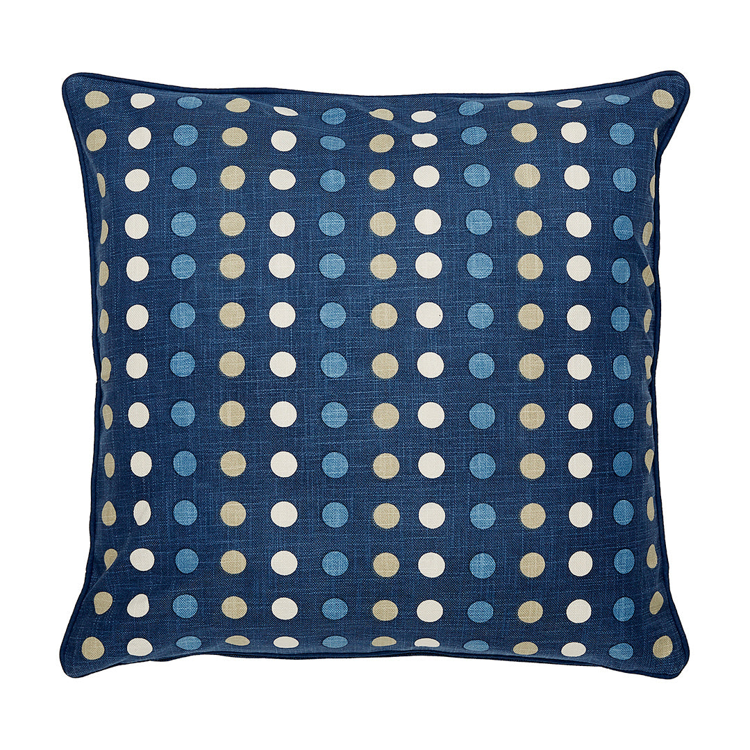 "Polka Denim Accent Pillow Cover, 20"" x 20"""