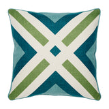 "Runway Teal Accent Pillow Cover, 20"" x 20"""