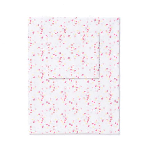 Coral Confetti Sheet Set