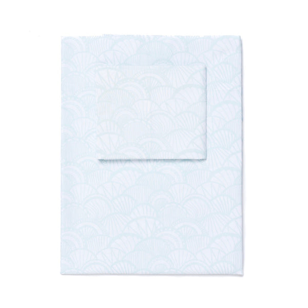 Seaglass Scallop Sheet Set (size: queen)