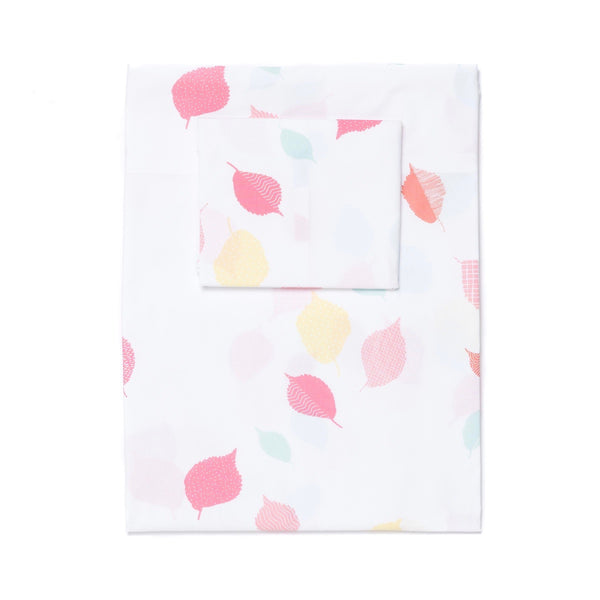 Coral Leaves Sheet Set (sizes: twin, queen)