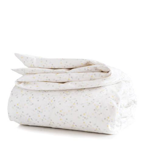 Lemon Confetti Duvet Cover + Sham Set (sizes: twin)