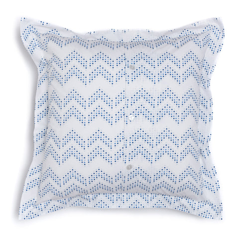 Oasis Dot Chevron Euro Shams, Set of 2