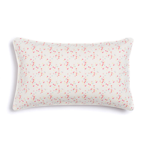 "Coral 16"" x 26"" Scallop + Confetti Reversible Accent Pillow"