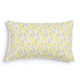 "Lemon 16"" x 26"" Scallop + Bamboo Reversible Accent Pillow"