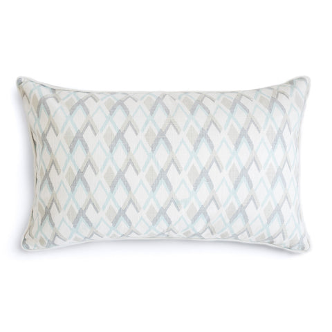 "Pebble 16"" x 26"" Mod Leaves + Peaks Reversible Accent Pillow"