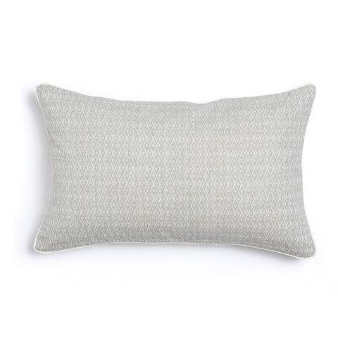 "Pebble 16"" x 26"" Triangles + Criscross Reversible Accent Pillow"