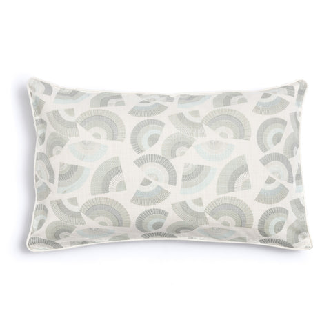 "Pebble 16"" x 26"" Bamboo + Fans Reversible Accent Pillow Cover"