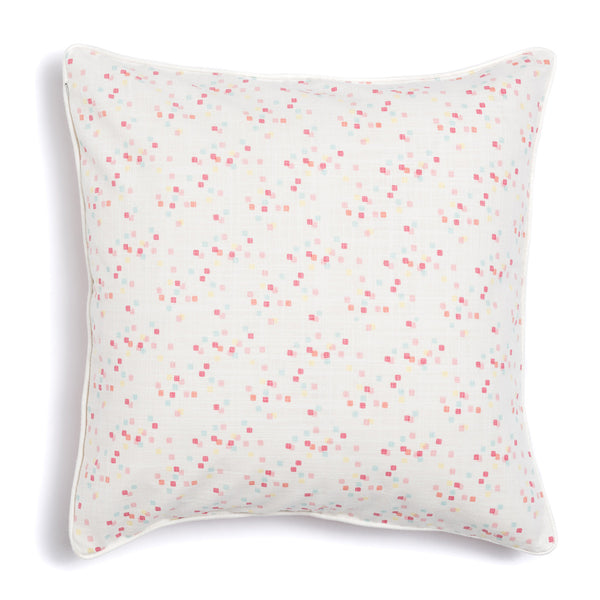 "Coral 20"" x 20"" Scallop + Confetti Reversible Accent Pillow"