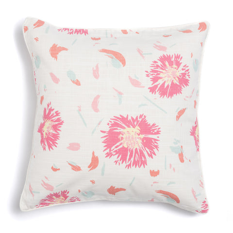 "Coral 20"" x 20"" Wildflower + Pickupstix Reversible Accent Pillow"