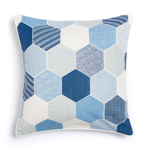 "Oasis 20"" x 20"" Honeycomb + Pickupstix Reversible Accent Pillow"