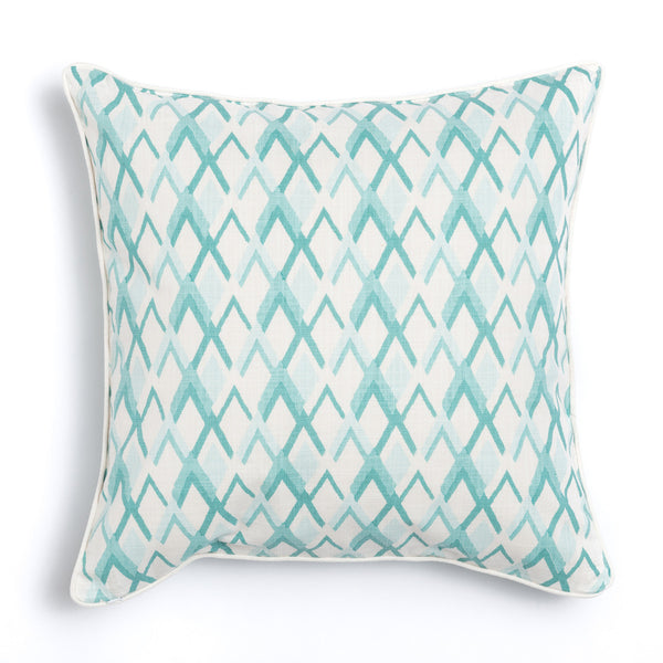 "Seaglass 20"" x 20"" Peaks + Bamboo Reversible Accent Pillow"